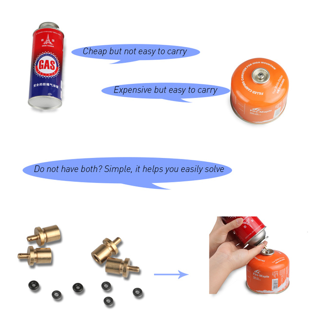 Stove Gas Refill Adapter and Gas Tank Burner for Outdoor Camping