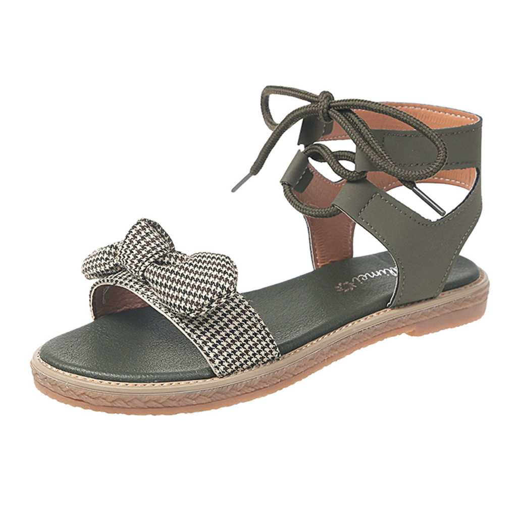 Luxury Womens Flat Shoes Cover Shallow Womens Ladies Summer Bohemian Cross-tied Bowknot Flat Beach Sandals Roman ShoeLuxury Womens Flat Shoes Cover Shallow Womens Ladies Summer Bohemian Cross-tied Bowknot Flat Beach Sandals Roman Shoe