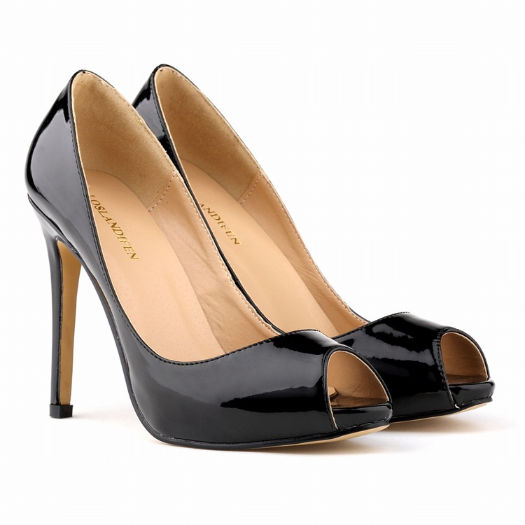 Fashion Star Models Patent Leather Bridal Shoes Open Toe High Heels Shoes 11CM Sexy Pumps Sandals Heels Woman Shoes new 2017 sexy point toe patent leahter high heels pumps shoes sandals pr1987 woman s red sandals heels shoes wedding shoes