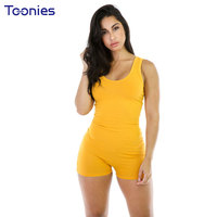 Women Rompers Plus Size Sexy Backless Sportswear Skinny Playsuits Bodycon Casual Sleeveless Overalls For Women Solid