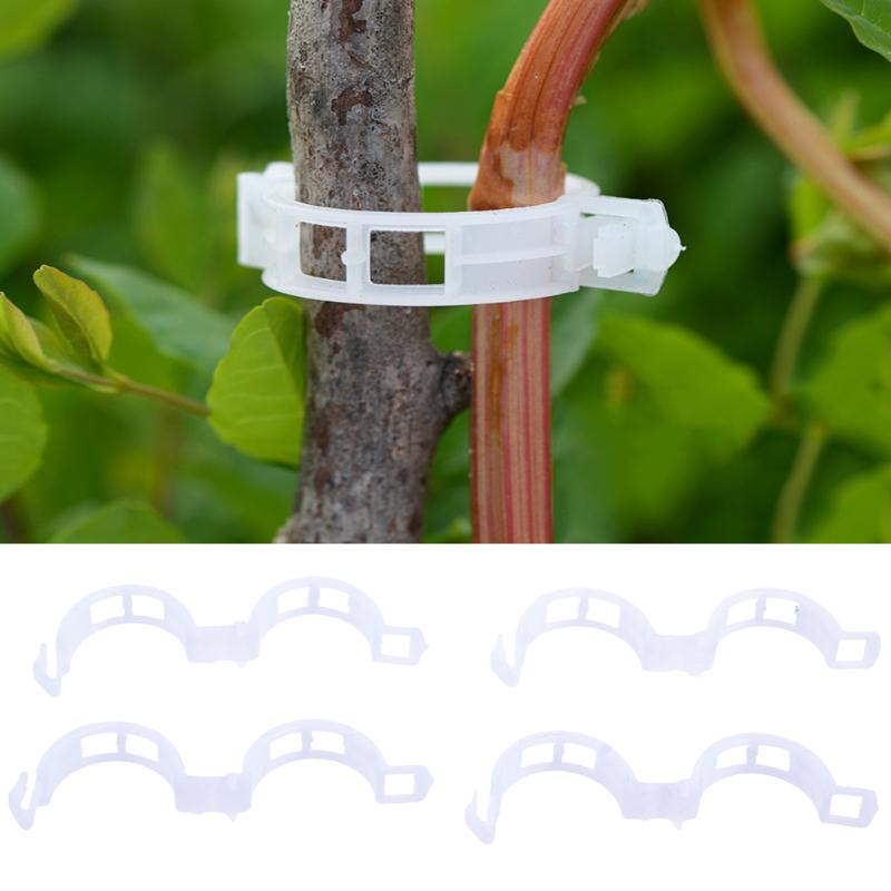 50/100/200Pcs Plastic Plant Support Clips For Types Plants Hanging Vine Garden Vegetables Greenhouse Garden Ornament