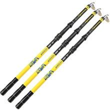Wholesale YUYU Quality Telescopic Fishing Rod Carbon 2.1-3.6m Ultra Light Rod Spinning Fish Fishing Tackle Sea Rod Spinning Fishing Pole