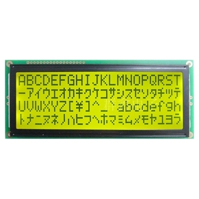 5v larger LCD 2004 20*4 20x4 largest character Yellow green screen 204 lcd display module 146*62.5mm HD44780 wh2004l AC204B