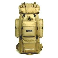Brand High capacity bracket professional 85L mountaineering bag fashion outdoors backpack Waterproof travel Multifunctional bag