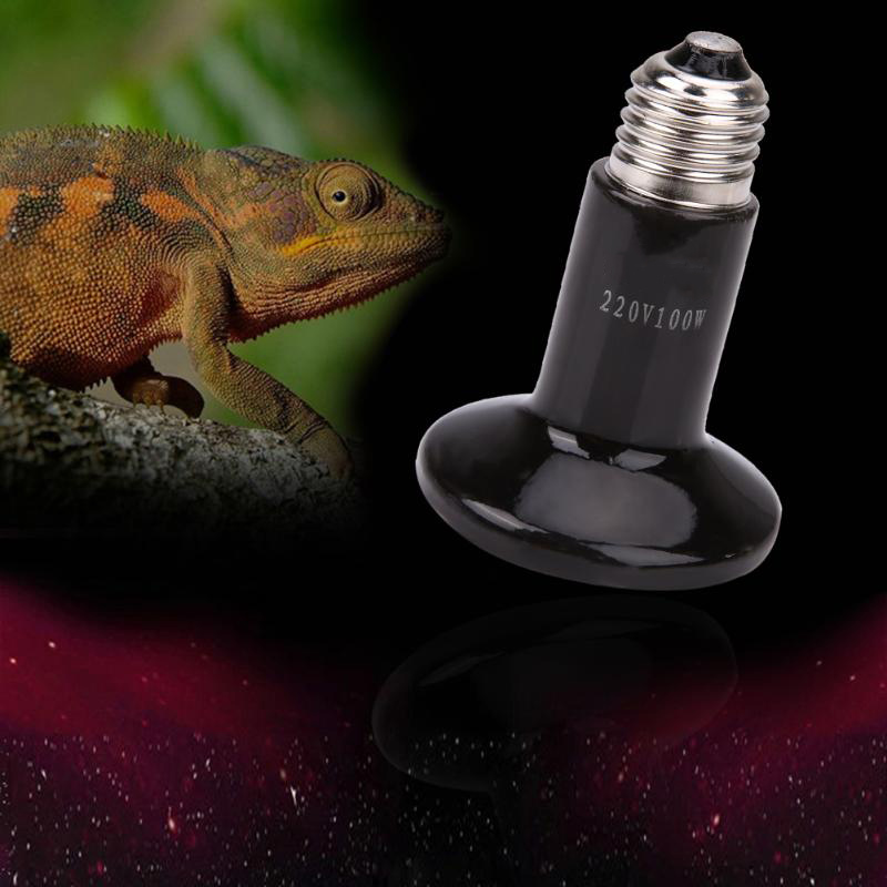 Pet Heating Bulb 220v Infrared Ceramic Heat Emitter Light Bulb For Reptile Pet Brooder Amphibians Chickens Lamp