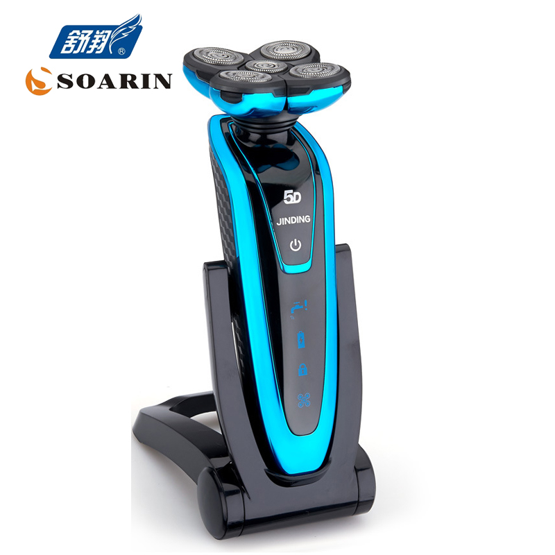 JINDING Washing Electric Shavers For Men Blue Or Gold Or Sliver Shaver Rechargeable Beard Clipper Electric