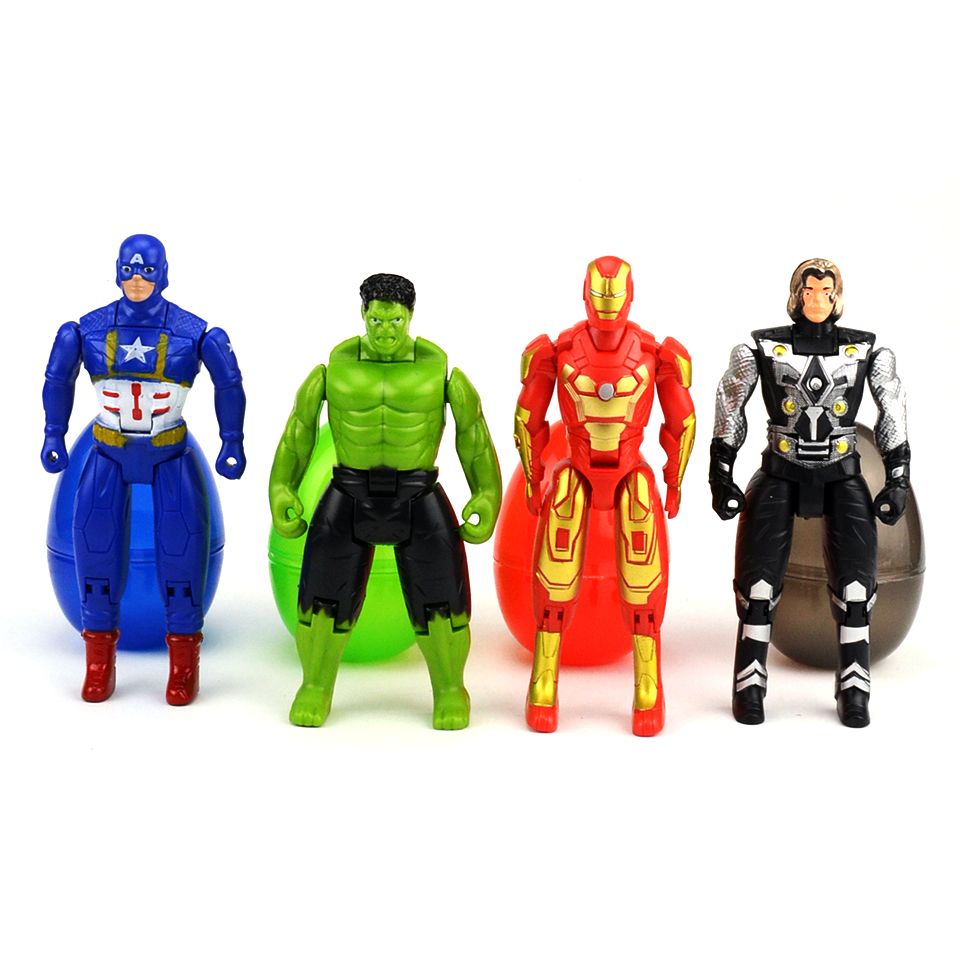 Super Hero Avengers Action Figure Toy Captain America,Iron Man,Thor,The incredible Hulk,Deformation Model Doll Kids Gift