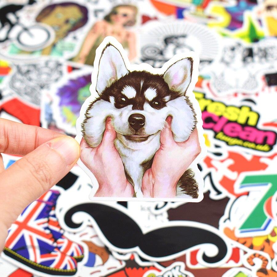 500 PCS Graffiti Sticker Rock Anime Horror Cartoon Decor Stickers To DIY Laptop Travel Case Skateboard Helmet Bicycle Guitar Car