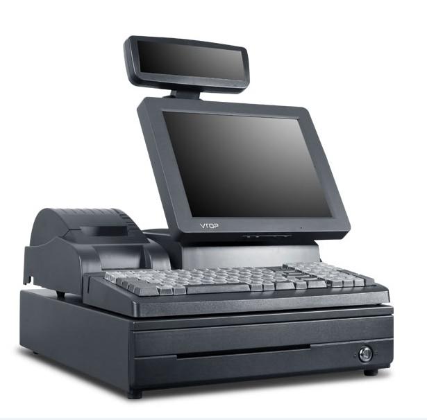 1PC VTOP180F Cash Register Cash Registers Cash Register POS Machines Desktop Cash Register One Machine 220V