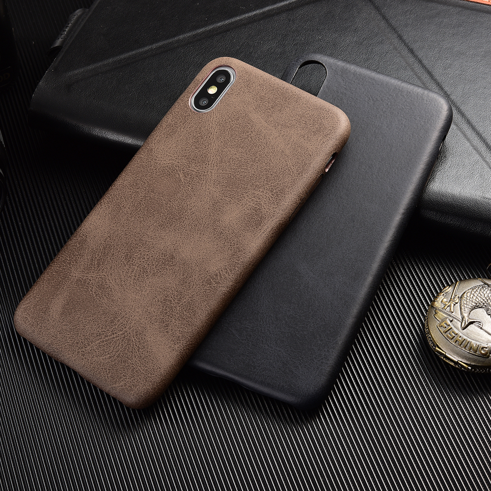 PU Leather Crocodile Skin Soft Back Cover For iphone X XS Max XR 11 Pro Vintage Phone Cover Cases for iPhone 7 8 Plus 6 6S Case