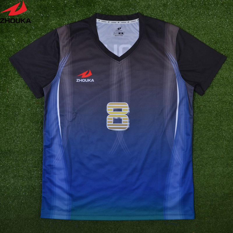 Zhouka custom football Jersye Sublimation printing personalized soccer jersey any color patter jersey custom as your own design lastest design polyester dry fit oem soccer jersey any color stripes design purple free shipping full sublimation print
