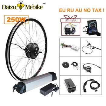 36V 250W moteur de moyeu sans brosse Kit de Conversion de vélo électrique 36V 10A/12A batterie au Lithium LED contrôleur LCD en option Ebike
