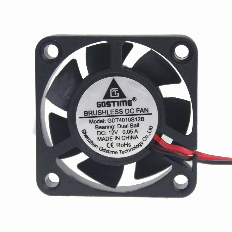 2 pieces Gdstime 12V 40mm x 10mm Two Ball Bearing 40x40x10mm Mini Small DC Cooling Cooler Fan 4010 4cm 0.05A gdstime 10 pcs dc 12v 14025 pc case cooling fan 140mm x 25mm 14cm 2 wire 2pin connector computer 140x140x25mm