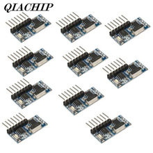 QIACHIP 10Pcs 433MHz RF Relay Receiver Module Learning Code Remote Comtrol Switch 4 Channel Output For Control DS2