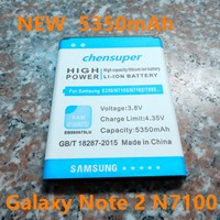 2017 New 5350mAh Battery EB595675LU For Samsung Galaxy Note 2 II Note2 N7100 E250 Note 2