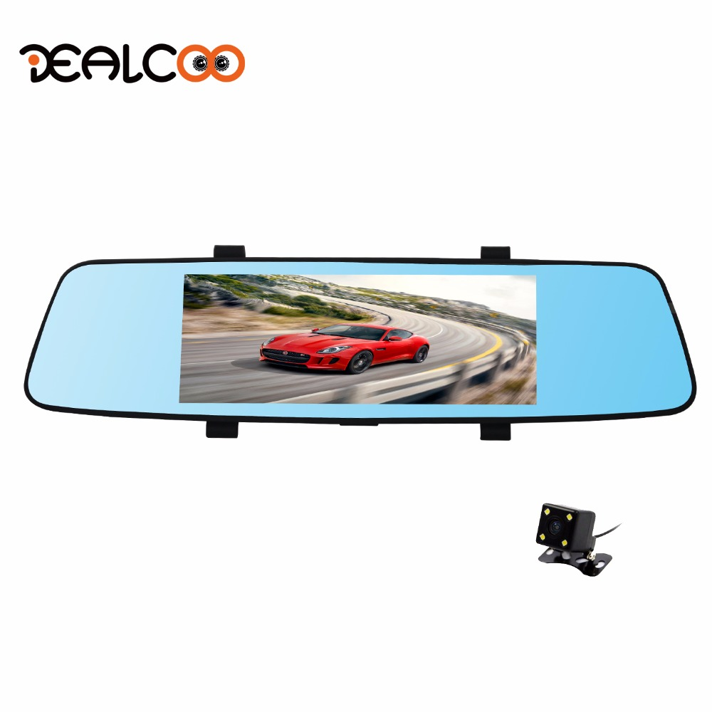 Dealcoo Car font b DVR b font 7 Mirror Car font b DVR b font Recorder