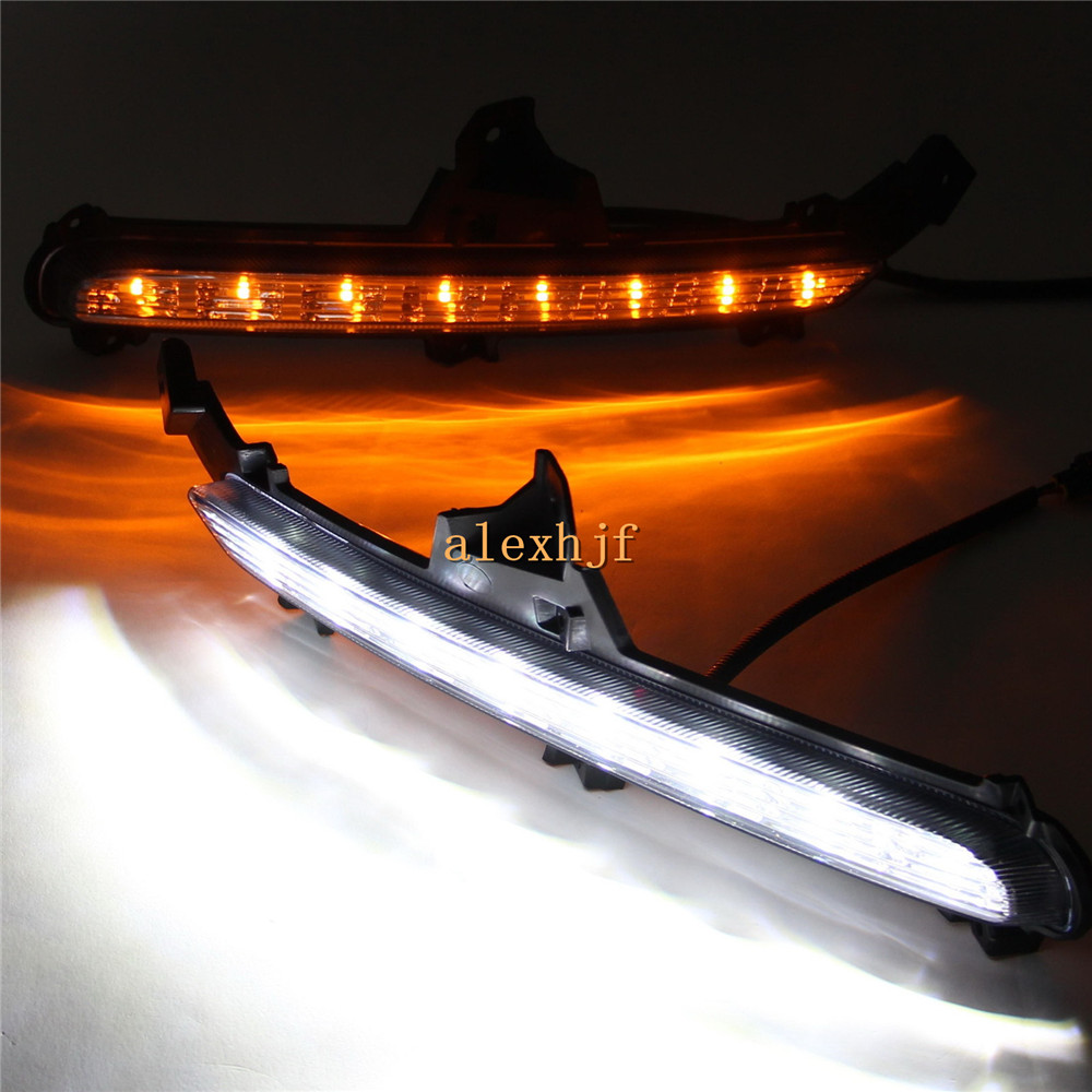 July King 8LEDs Daytime Running Lights DRL Case for KIA K2 RIO 2015~ON, LED Front Bumper Fog Lamp With Yellow Turn Signals Light for opel astra h gtc 2005 15 h11 wiring harness sockets wire connector switch 2 fog lights drl front bumper 5d lens led lamp