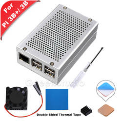 Новый алюминий сплав Корпус чехол с Вентилятор охлаждения радиатора отвертка для Raspberry Pi 3 B Plus (3B +)/3 B/2 B