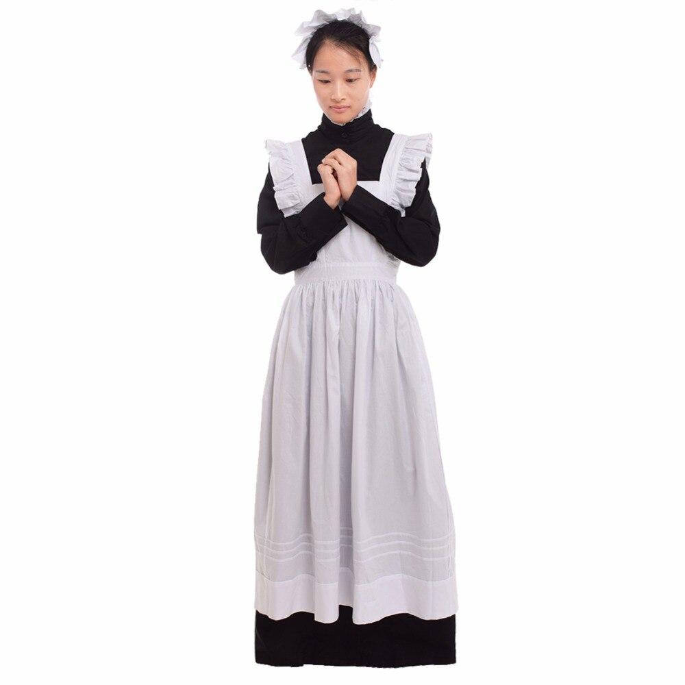 Femmes femme de chambre Costumes Lolita britannique Noble château serviteur Festival ste-wardress uniforme Cosplay femme de ménage robe costume