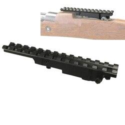 전술 소총 범위 위버 picatinny ar 98 K-98 k98/터키어 vz 24 스카우트 라이플 picatinny 레일 범위 마운트 13 슬롯 사냥 caza
