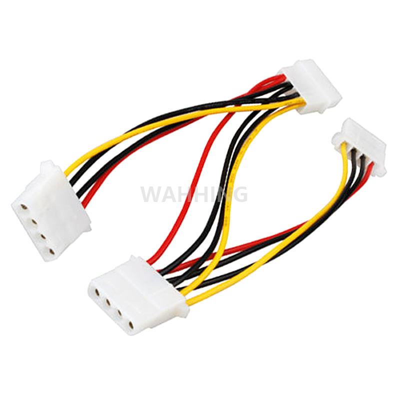 4 Pin Molex Male to 3 port 4Pin Molex IDE Female Power Supply Splitter Adapter Cable Computer Power Cable Connector HY1264 rp sma female to y type 2x ip 9 ms156 male splitter combiner cable pigtail rg316 one sma point 2 ms156 connector for lte yota