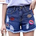 2017 New Summer Sexy Short Shorts Hole Loose Denim Shorts Women High Waist Short Jeans All Match Short Feminino Plus Size Y90