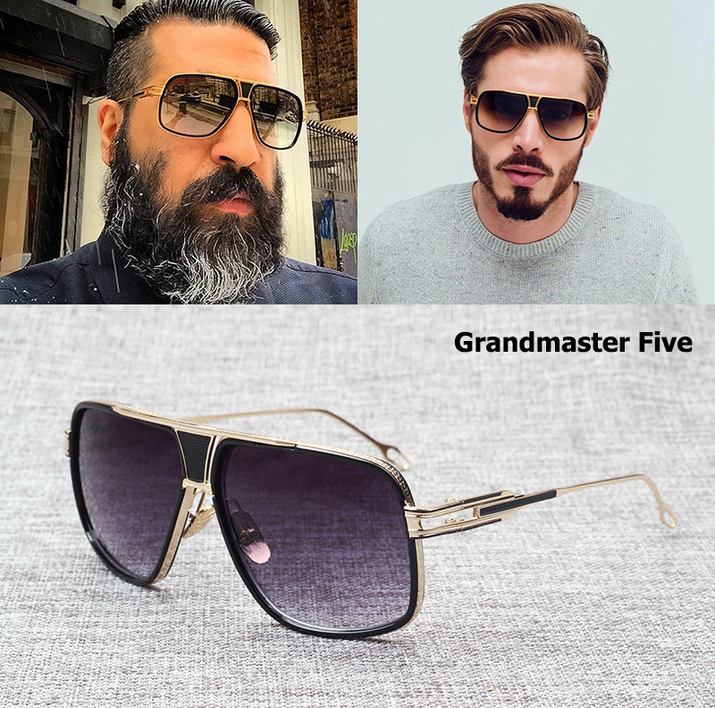 JackJad New Fashion Brand Design Grandmaster Five Aviator Sunglasses Men Women Vintage Classic Quality Sun Glasses Oculos De Sol