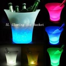 Многоцветный СВЕТОДИОДНЫЙ кулер с подсветкой для шампанского, вина, напитков, 5л