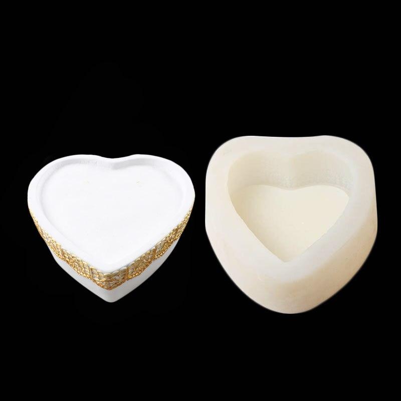 Amour coeur dentelle liquide Silicone moule à la main savon moules bricolage Fondant gâteau décor chocolat bonbons glace Pudding moule outil de cuisson