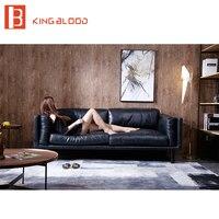 Muebles de sala nuevo modelo sofá de cuero sección establece fotos