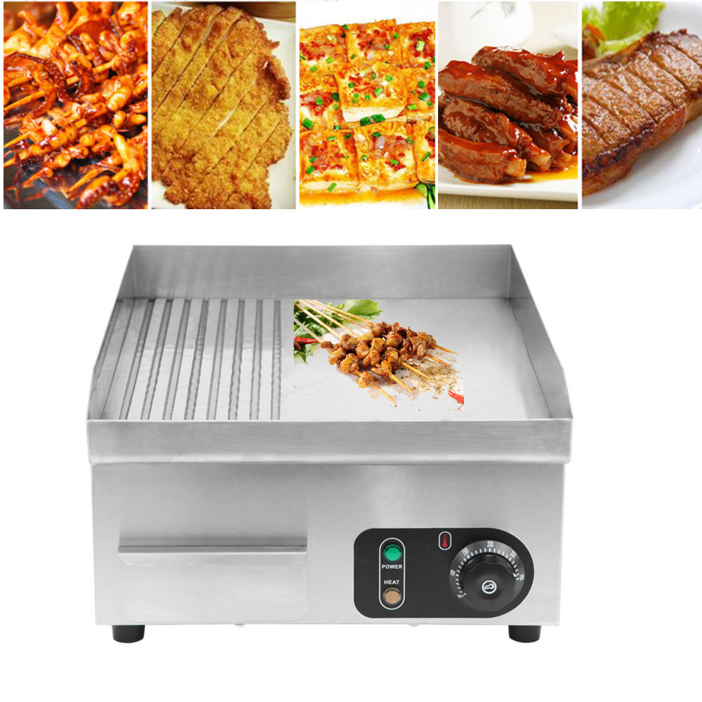 цена на (Ship from EU) 2000W Commercial Electric Griddle Countertop Kitchen Hotplate Stainless Steel