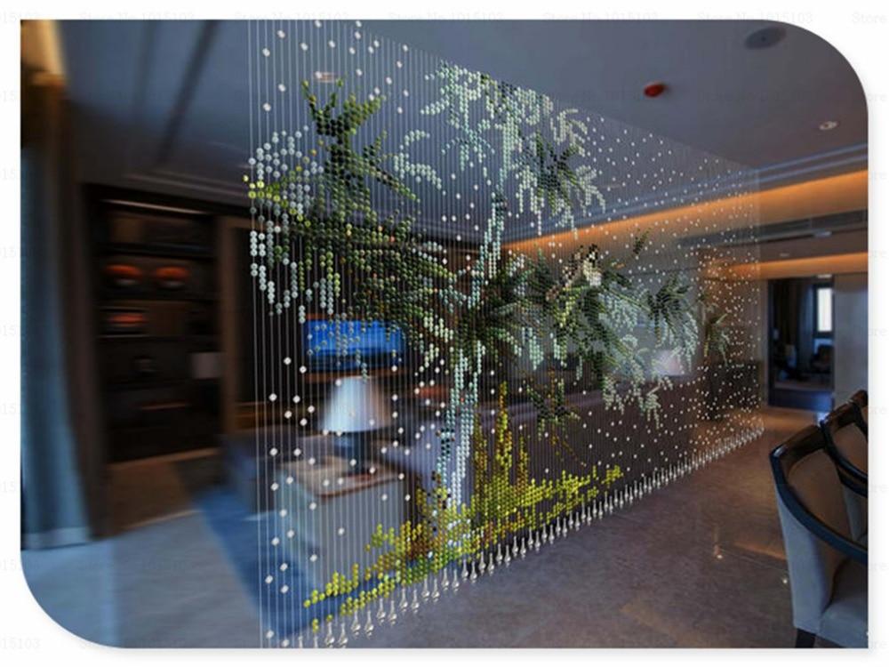 Customize Acrylic Crystal Bamboo Ikea Beaded Curtain Door Beads