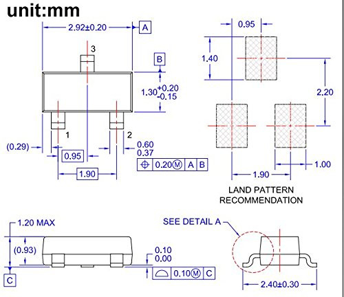 MCIGICM smd transistor kit sot23 npn pnp sot 23 bjt transistor assortment for diy in Transistors from Electronic Components Supplies