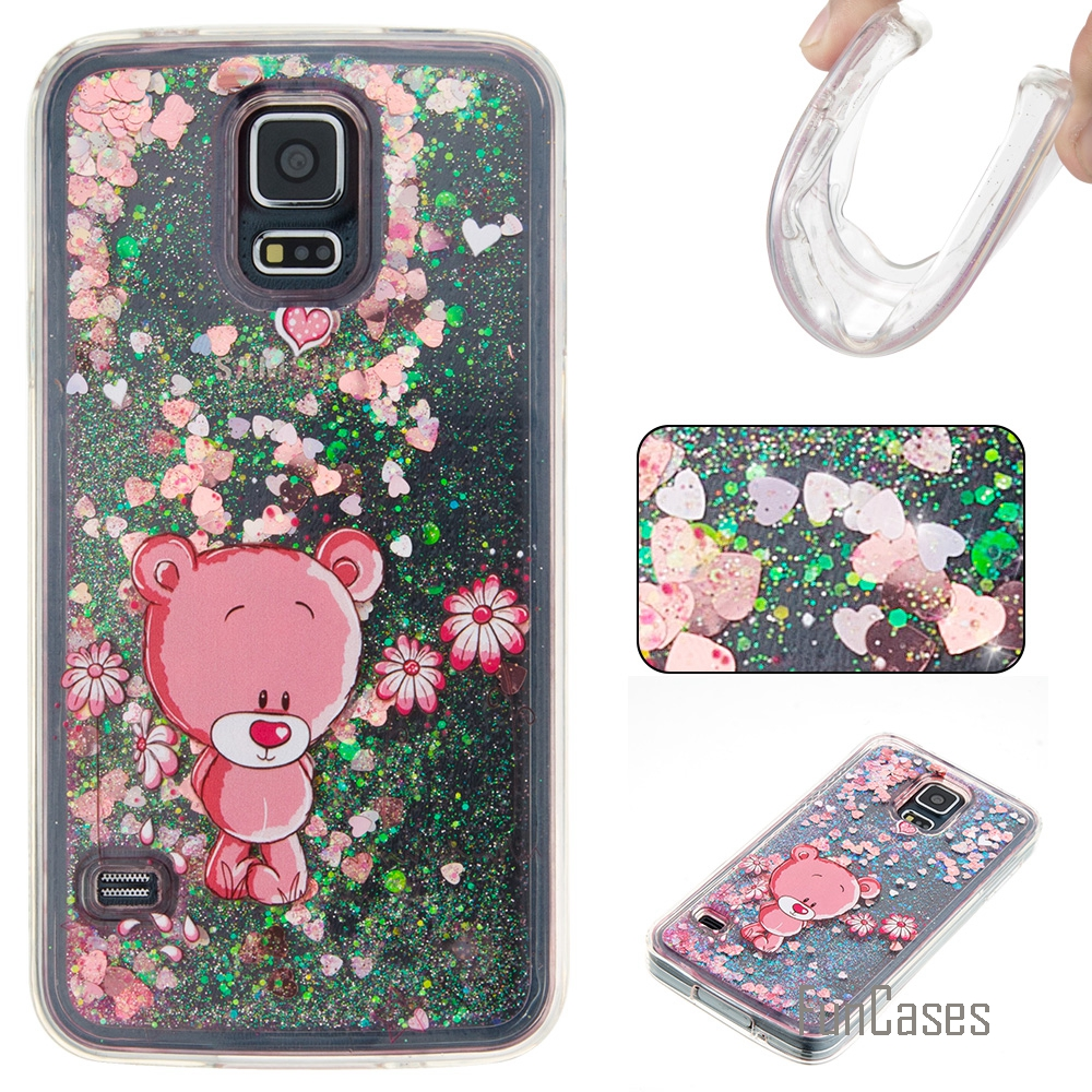 Funda Cute Quicksand Soft TPU Case For Samsung Galaxy S5 Coque Cartoon Phone Case Carcasa Etui Ajax Caso For Samsung i9060 G900F