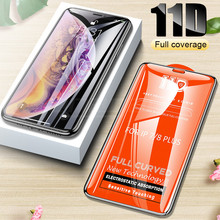 RGLM 11D Curved Edge Protective Glass For iPhone 7 8 6 6S Plus Tempered Screen Protector X XS Max XR Fil