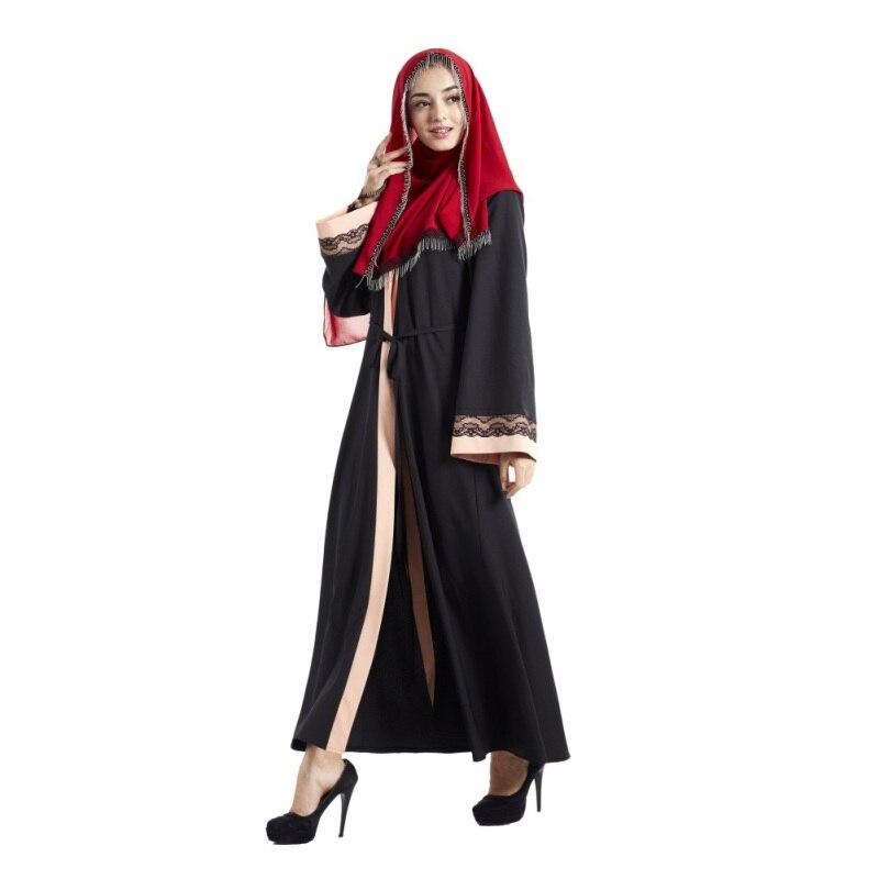 Kaftan Abaya Islamic Muslim Cocktail Women Long Sleeve Robe Patchwork Lace Embroidery Dress Musulmane Abayas Dresses W9 худи xxxtentacion