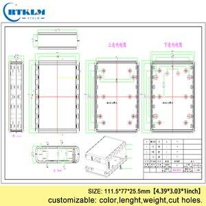 Пластиковый корпус для электроники, корпус для электроники из АБС-пластика, распределительная коробка для проекта «сделай сам», корпус для ...