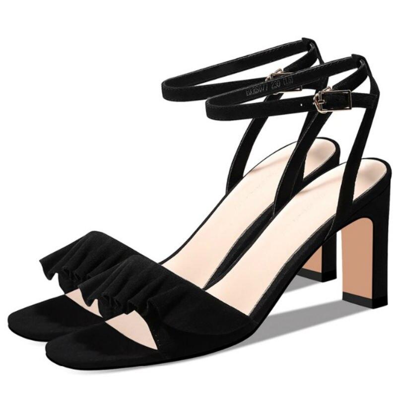 4c4f328e77e0e5 8 Tendance Chaussures De Confortable Printemps À Épais Cm Bxrs077 Souliers  Talons 2019 Talon Femmes Boucle ...