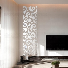 Mirror Wall Stickers Sticker For Home Decor Kids Room Chinese Swirly Vine Vintage Oriental Grillwork Mural Wallpaper R123