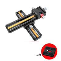 MINI 180mm Macro Focusing Rail Slider Close up Shooting Head With Arca Swiss Fit Clamp Quick Release Plate for Tripod Ball head