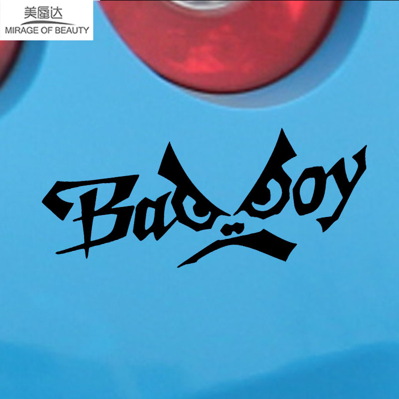 Exterior Accessories Beautiful Qypf 17.3cm*4.3cm Funny English Alphabet Bad Boy Vinyl Car Sticker Waterproof Decal Black Silver C15-1929 Orders Are Welcome. Automobiles & Motorcycles
