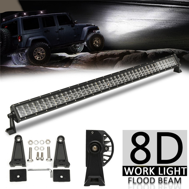 42 inch 4-Row LED Light Bar Offroad Flood Led Work Light Bar for Car Nicolight Light Bar Wiring Harness on
