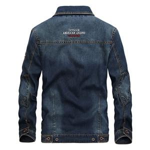 Image 4 - DAVYDAISY 2019 New Arrival Denim Jacket Men Washed Cowboy Stand Collar Hip Hop Ripped Street Designer Men Jeans Coat DCT 231