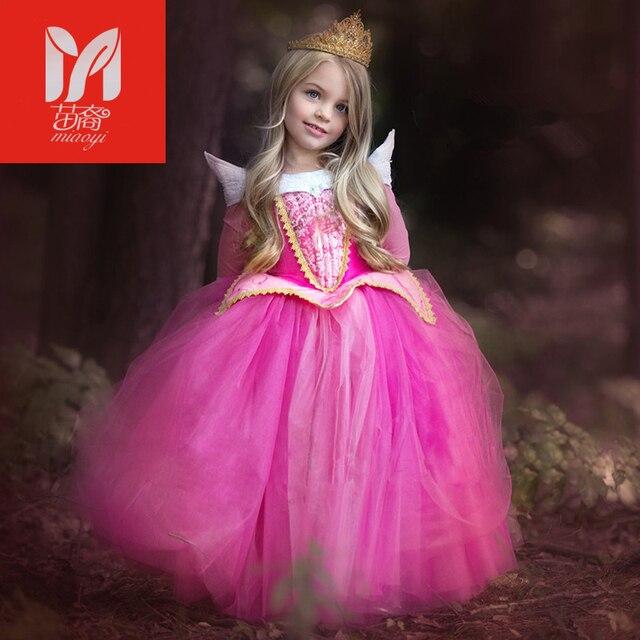 Belleza durmiente princesa Aurora Vestidos traje otoño Pink Girl ...