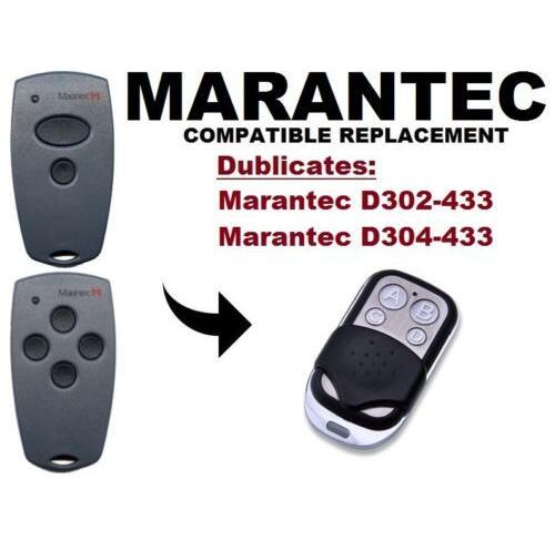 Marantec D302, D304 433Mhz Garage Door/Gate replacement Remote Control Duplicator