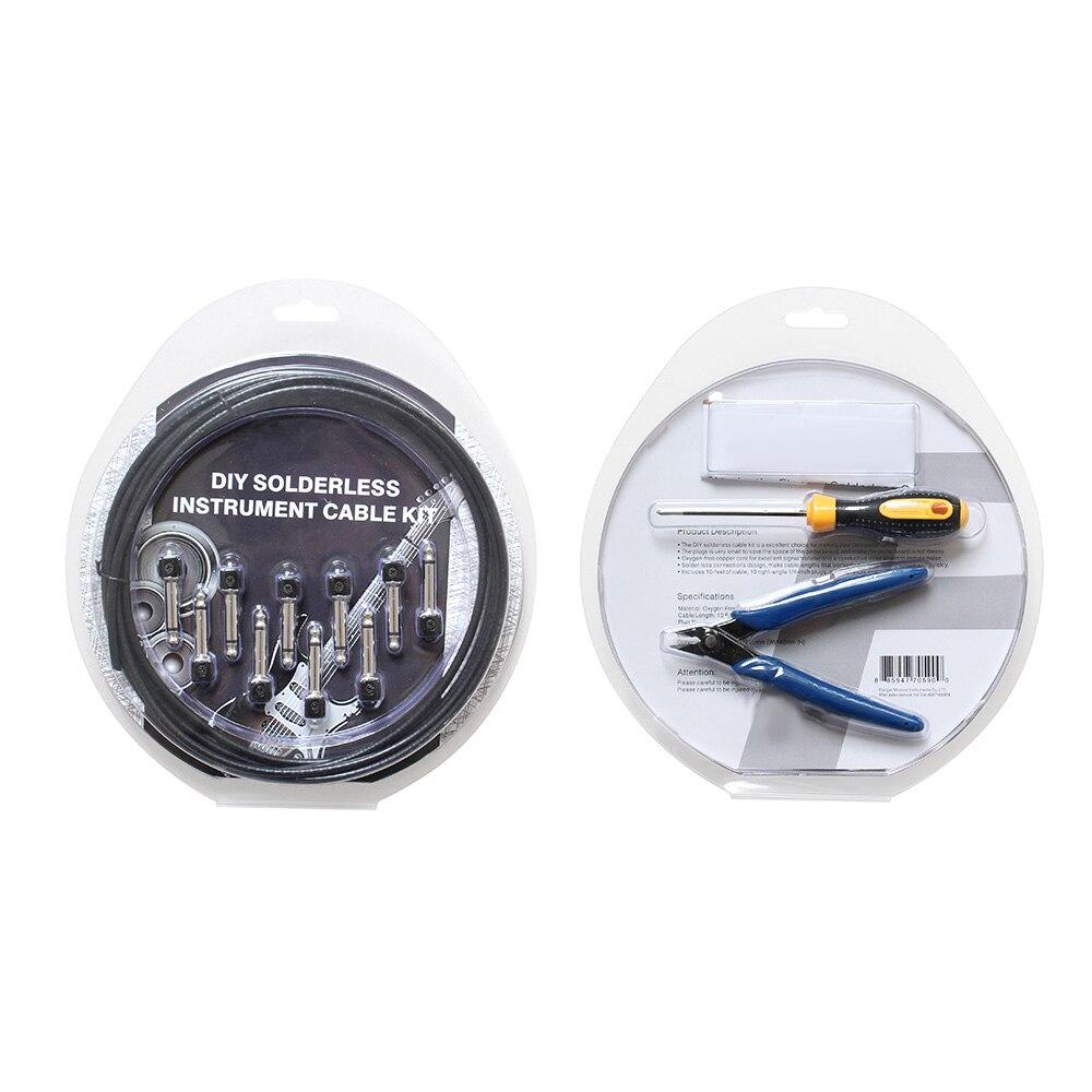Bricolage Soudure Câble Kit Guitare Pédalier câble de raccordement Ensemble Durable Accessoires Instrument BHD2