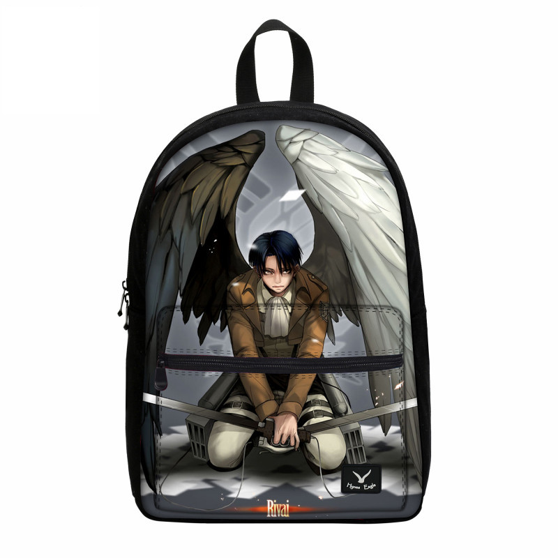 VEEVANV Fashion Printing Bookbag Attack on Titan Canvas Backpack Anime Teenagers Rucksack Casual Mochila Children School Bag New attack on titan freedom wings emblem printing korean japanese style school backpack anime backpacks ab197