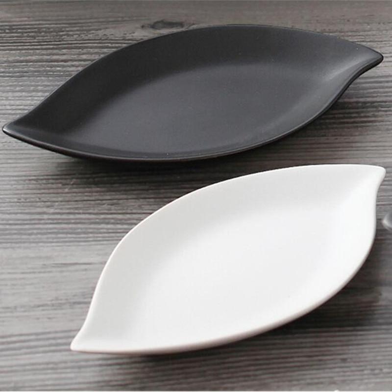 Ceramic dish black Scrub Dinner plates plato oval dim Plate fruit salad bowl tray plates snack & Online Buy Wholesale ceramic decoration salad bowl from China ...