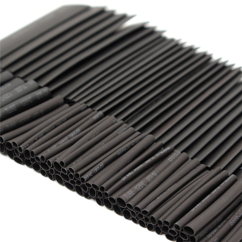 127pcs 2:1 7 Sizes Assortment Polyolefin Halogen-Free Heat Shrink Tubing Tube Sleeving Wire Cable Kit Best Price недорого