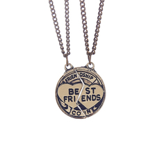 2 Pcs New Design BFF Bronze Pendant Necklace Friendship Best Friends Forever Necklaces Anchor Jewelry Gift For Girl Boy